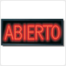 "25.5"" x 11""  LED Abierto"