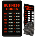 "12"" x 22""  Business Hours Sign"