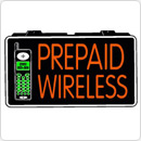 Indoor Mobile Pay As You Prepaid Wireless 13 x 24 Simulated Neon Sign